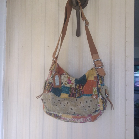 Fossil cross body bag patchwork